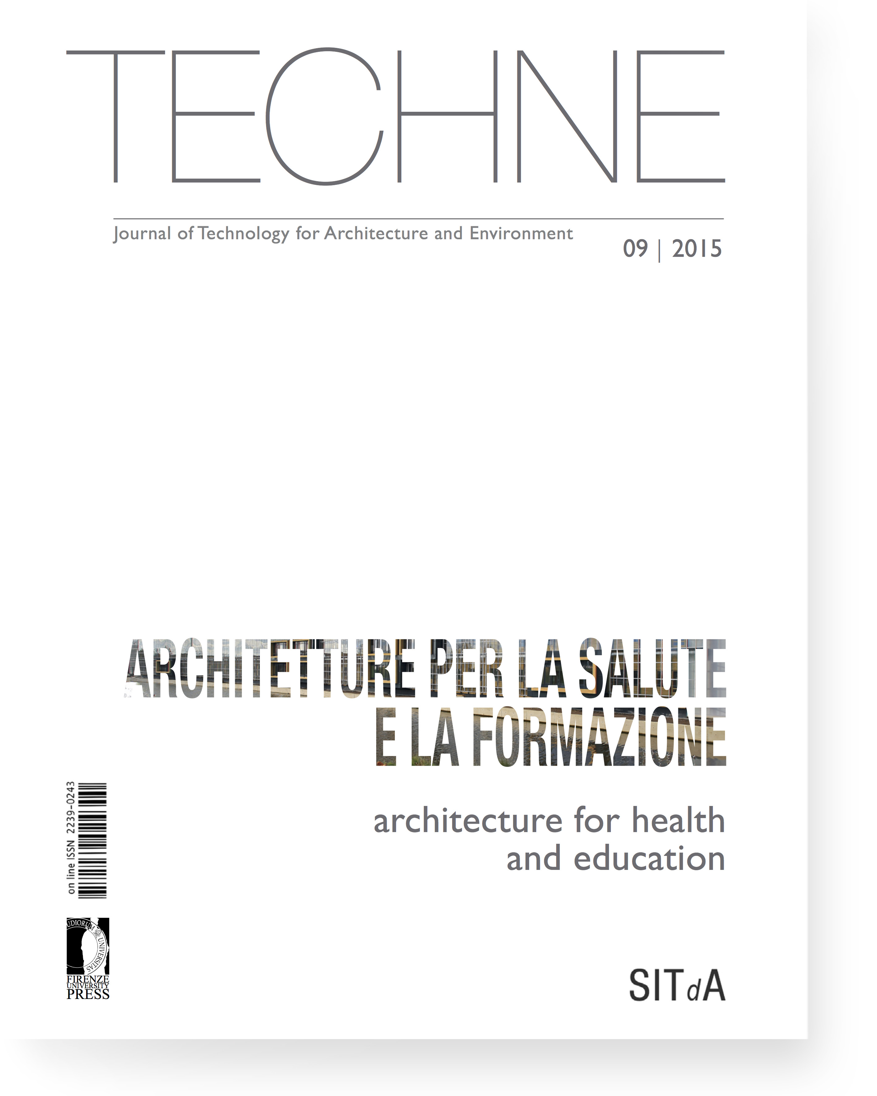 TECHNE 9 (2015): Architecture for health and education