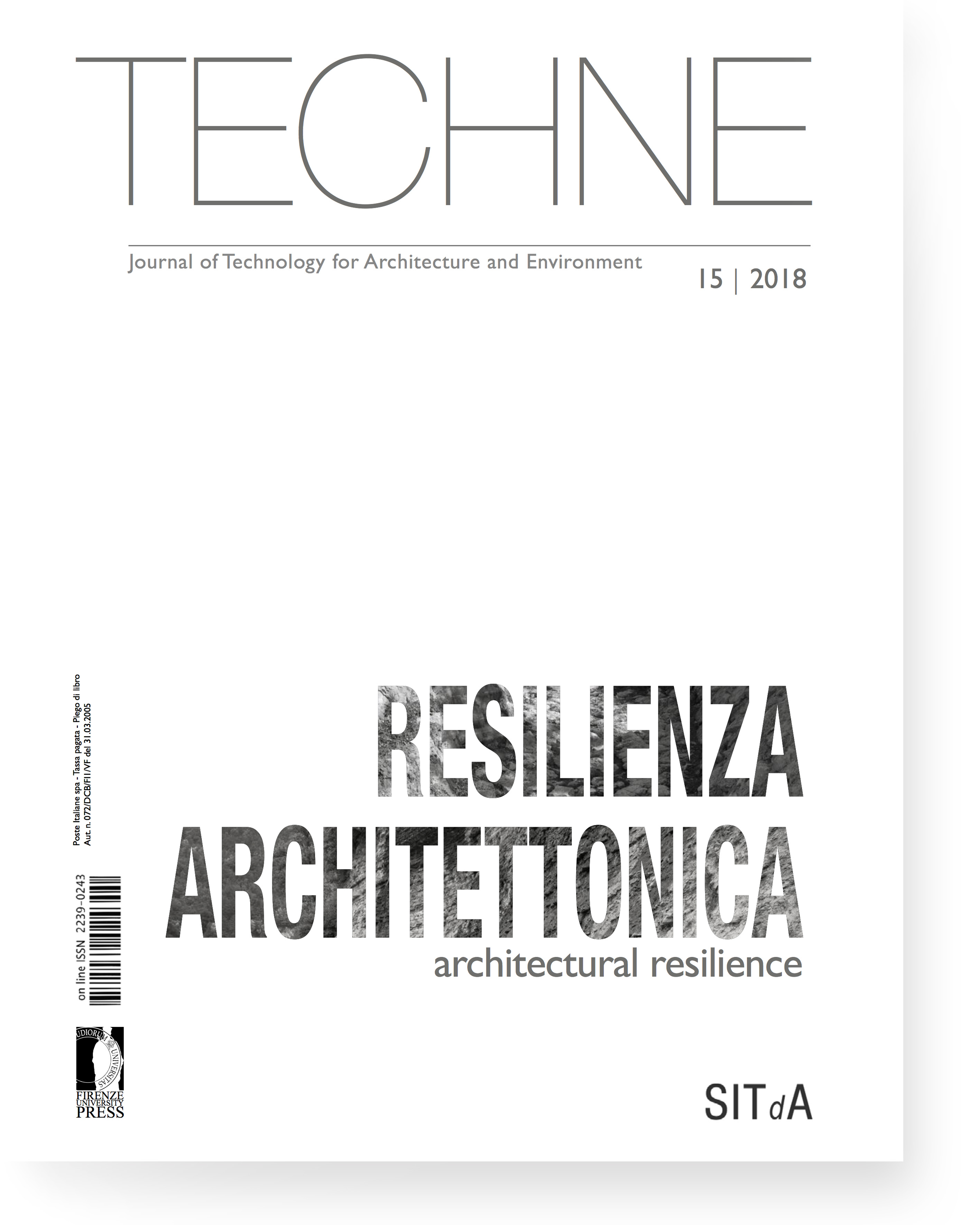 TECHNE 15 (2018): Architectural resilience